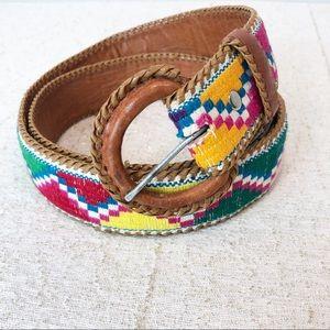 Handmade Leather Guatemalan Aztec Belt